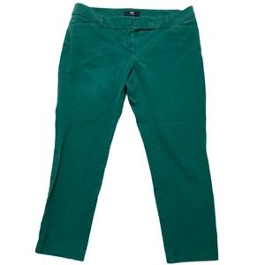 Mossimo stretch extensible teal green pixie pants